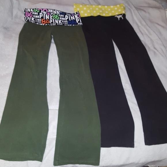 53b547d5f6 PINK Victoria's Secret Pants | Yoga 2 Pairs Together Vs Pink | Poshmark